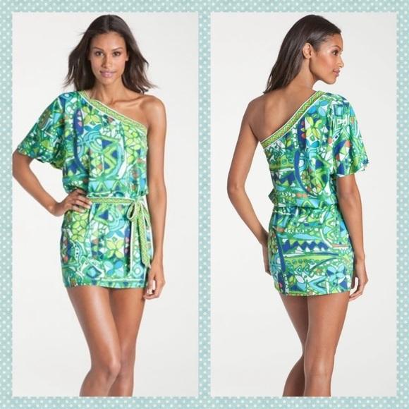 Trina Turk Dresses & Skirts - Trina Turk Bali Hai One Shoulder Mini Dress
